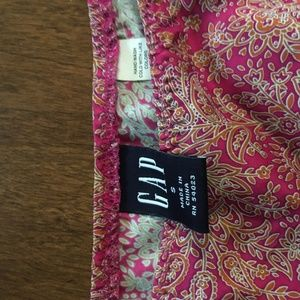 Gap Silk Skirt Size S Pink Paisley Pattern